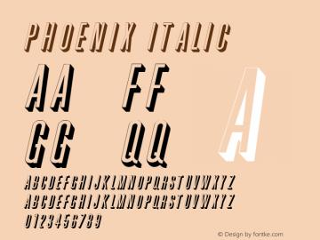 Phoenix Italic 1.0 Tue Jun 20 19:20:13 1995 Font Sample