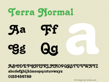Terra Normal Altsys Fontographer 4.1 12/22/94 Font Sample