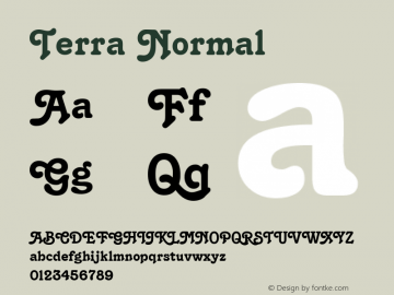 Terra Normal Altsys Fontographer 4.1 6/11/96 Font Sample