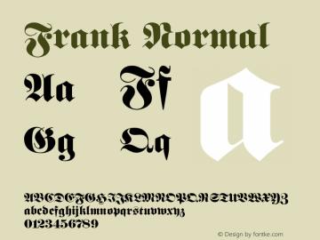Frank Normal 1.0 Tue Jul 27 01:33:43 1993 Font Sample