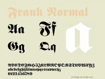 Frank Normal Altsys Fontographer 4.1 11/3/95 Font Sample