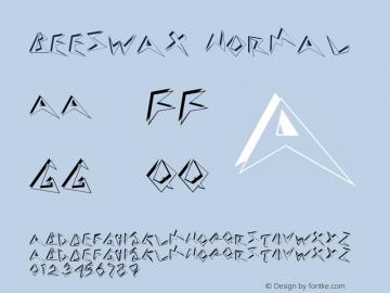 Beeswax Normal Altsys Fontographer 4.1 12/27/94 Font Sample