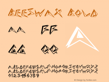 Beeswax Bold Altsys Fontographer 4.1 12/27/94 Font Sample