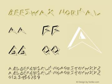 Beeswax Normal Altsys Fontographer 4.1 10/31/95 Font Sample
