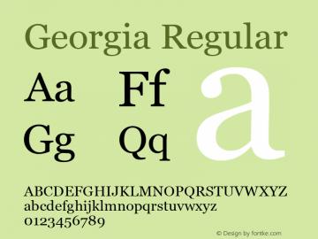 Georgia Regular Unknown Font Sample