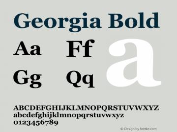 Georgia Bold Unknown Font Sample