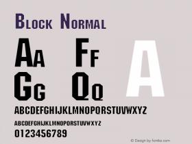 Block Normal 1.0 Mon Jul 26 18:02:37 1993 Font Sample