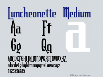 Luncheonette Medium Version 001.000 Font Sample