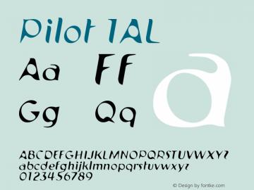 Pilot 1AL Version 001.000 Font Sample