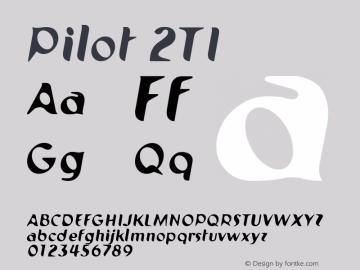 Pilot 2TI Version 001.000 Font Sample