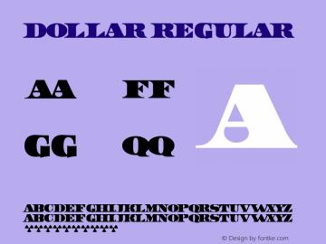 Dollar Regular Cyrillic version 1.02 by 30.01.2002. Font Sample