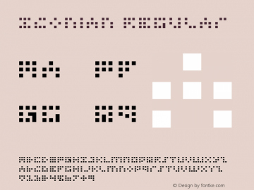 Iconian Regular 1 Font Sample
