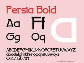 Persia Bold 1.0 Wed Jun 14 11:10:45 1995 Font Sample
