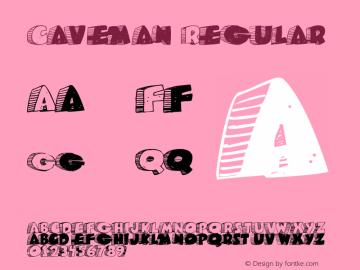 Caveman Regular Macromedia Fontographer 4.1.3 3/17/02 Font Sample