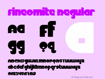 FineOMite Regular Macromedia Fontographer 4.1.3 3/17/02 Font Sample