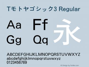 Tモトヤゴシック3 Regular Version T-2.10 Font Sample