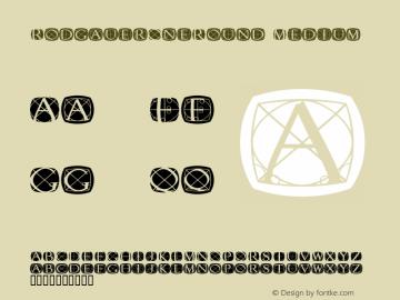 RodgauerOneRound Medium Macromedia Fontographer 4.1.3 03.01.2002 Font Sample