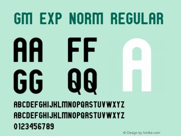 GM Exp Norm Regular 1 Font Sample