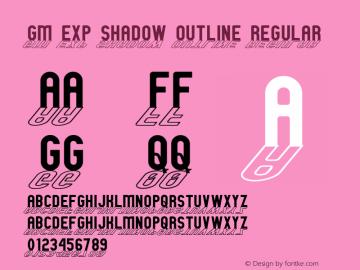 GM Exp Shadow outline Regular 1 Font Sample