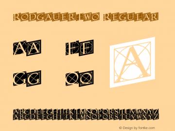 RodgauerTwo Regular 1.0 Font Sample