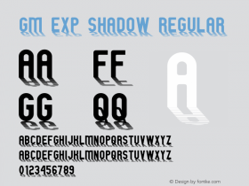 GM Exp Shadow Regular 1 Font Sample