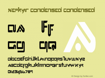 Xephyr Condensed Condensed 1 Font Sample
