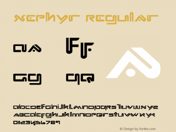 Xephyr Regular 1 Font Sample