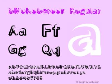 SMoKeScreen Regular Macromedia Fontographer 4.1.3 06.01.2002 Font Sample