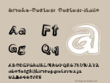 Smoke-Contour Contour-Italic Version 1.0 Font Sample