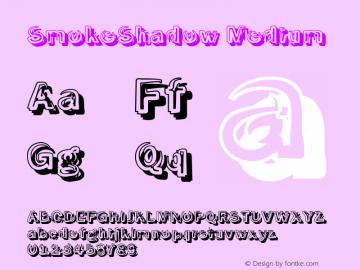 SmokeShadow Medium Version 1.0 Font Sample