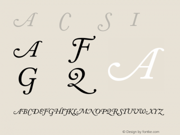Adobe Caslon SwashItalic Version 001.001 Font Sample