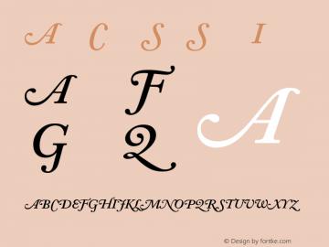 Adobe Caslon SwashSemiboldItalic Version 001.001 Font Sample