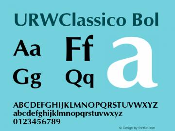 URWClassico Bol Version 1.05 Font Sample