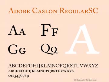 Adobe Caslon RegularSC Version 001.001 Font Sample