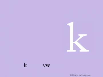 Adobe Caslon AltRegular Version 001.001 Font Sample