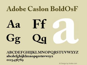 Adobe Caslon BoldOsF Version 001.001 Font Sample