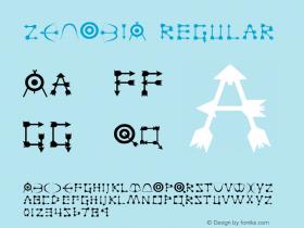 ZENOBIA Regular Altsys Fontographer 3.5  3/17/97 Font Sample