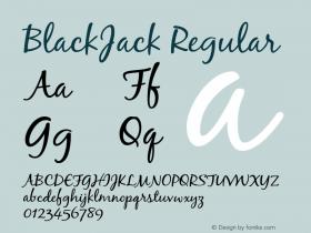 BlackJack Regular 001.000 Font Sample