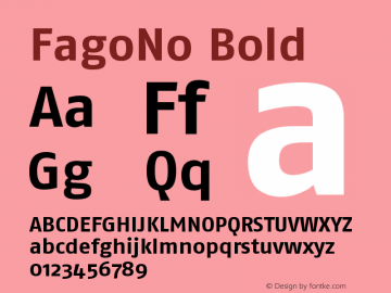 FagoNo Bold Version 001.000 Font Sample