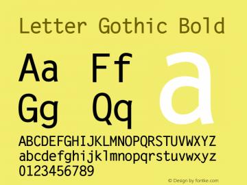 Letter Gothic Bold Version 1.00 Font Sample