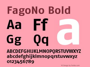 FagoNo Bold Version 001.000 Font Sample