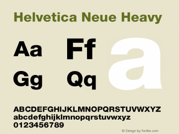 Helvetica Neue Heavy Version 001.001图片样张