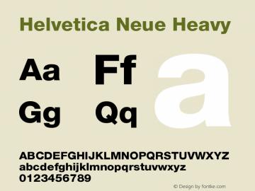 Helvetica Neue Heavy Version 001.001 Font Sample