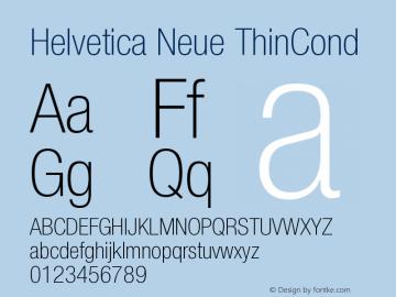 Helvetica Neue ThinCond Version 001.000图片样张