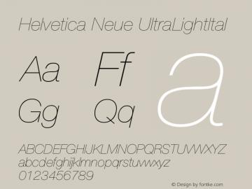 Helvetica Neue UltraLightItal Version 001.101图片样张