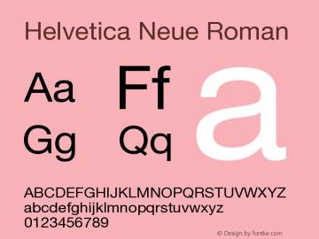 Helvetica Neue Roman Version 001.101 Font Sample