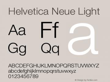 Helvetica Neue Light Version 001.001 Font Sample