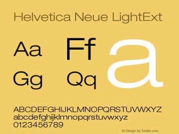 Helvetica Neue LightExt Version 001.000 Font Sample