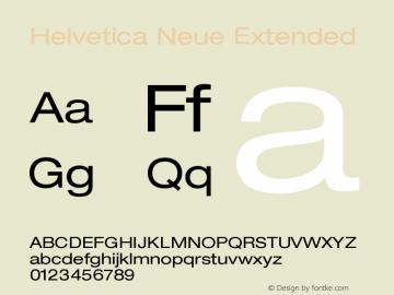 Helvetica Neue Extended Version 001.000图片样张