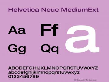 Helvetica Neue MediumExt Version 001.000图片样张